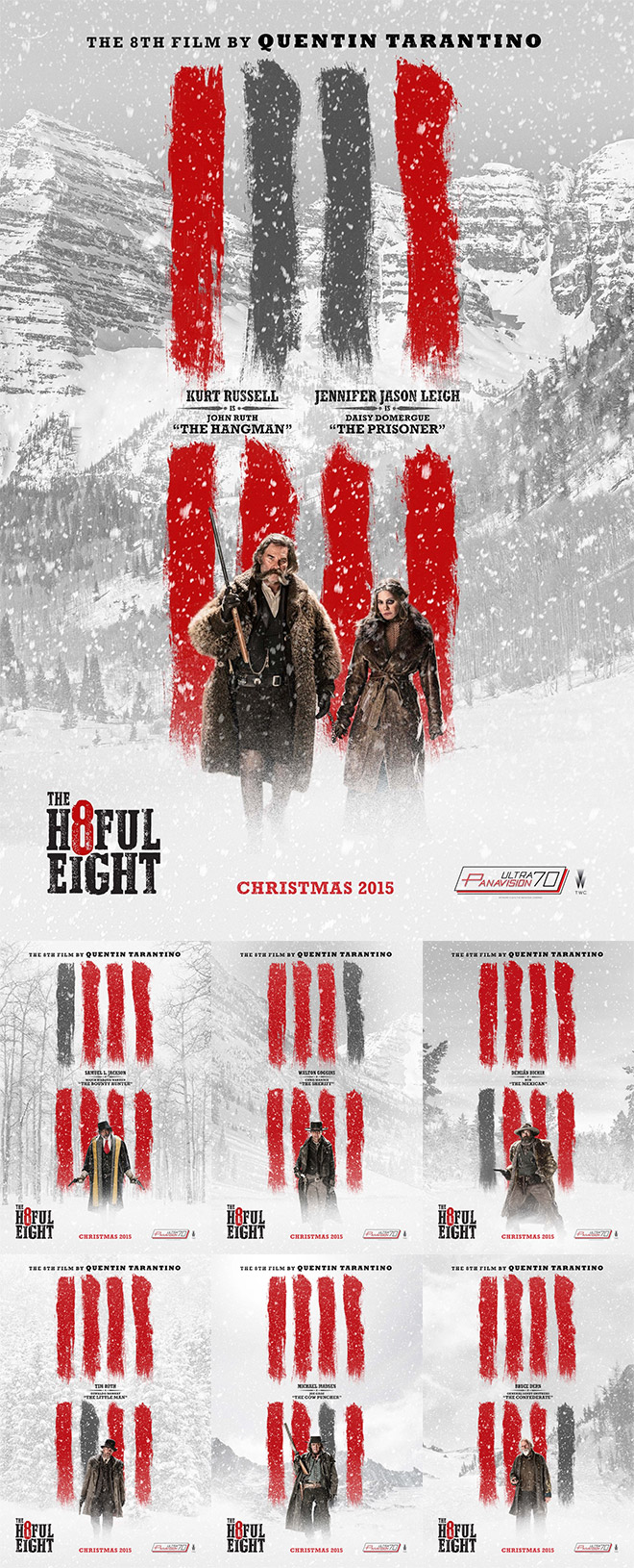 Hateful Eight Movie Posters