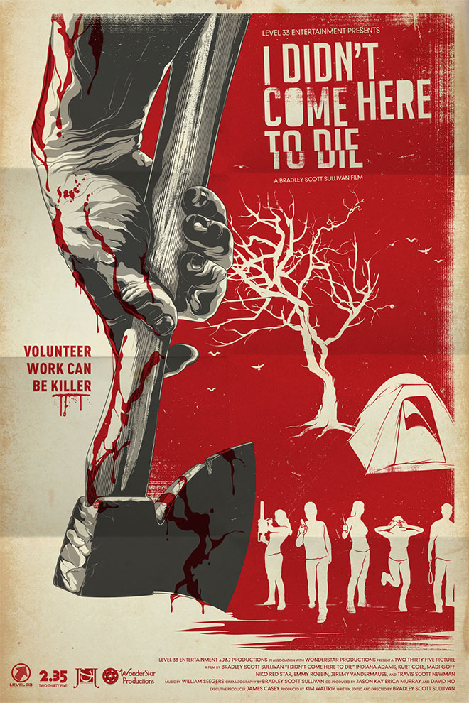 I Didn't Come Here to Die Movie Poster by Anthony Petrie