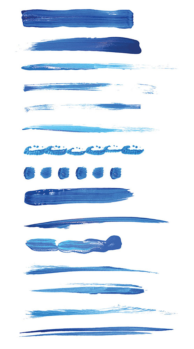 15 Paint Brushstroke Illustrator Brushes