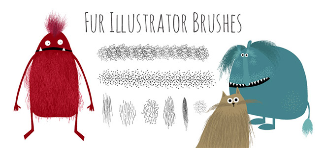 Free Hairy Fur Illustrator Brushes