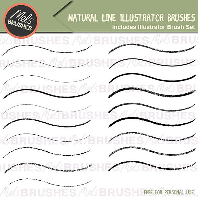 Free Natural Line Illustrator Brushes