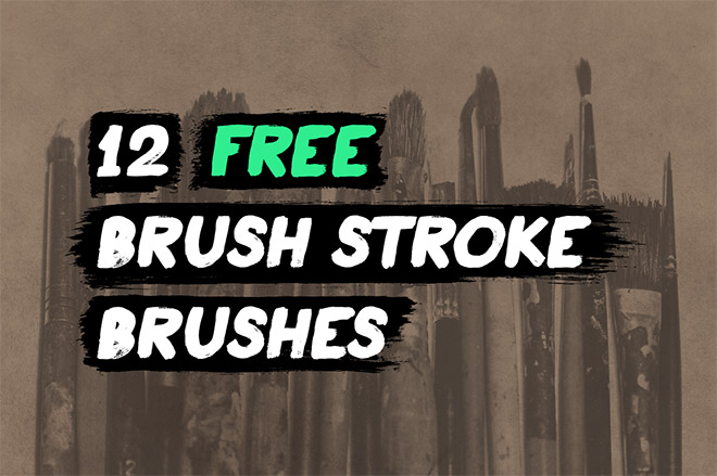 12 free brush stroke Illustrator brushes