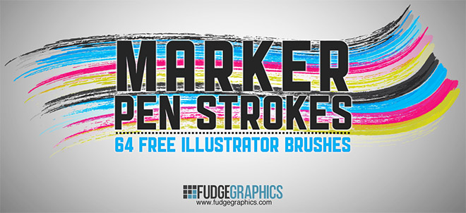 64 Free Marker Pen Illustrator Brushes