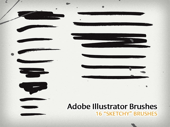 "16 ""Sketchy"" Illustrator Brushes"