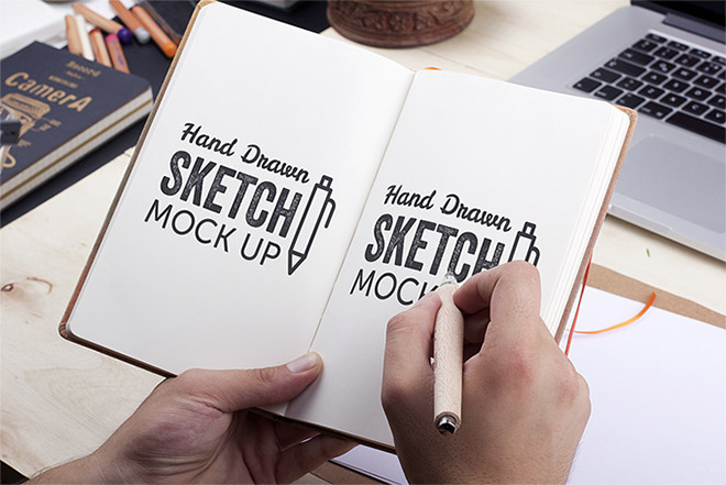 Hand-Drawn Sketch Mock-Up