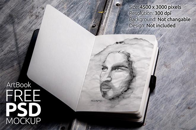 Sketch Book Mock Up