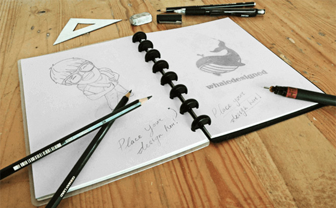 Sketch Book Mockup PSD