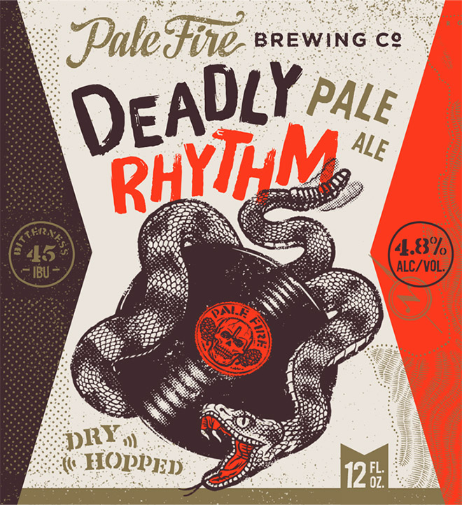Pale Fire Deadly Rhythm Pale Ale by Emrich Office