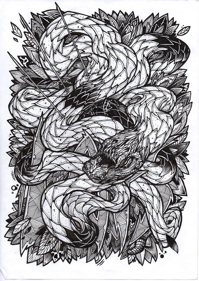 Snake by Fiasco Art