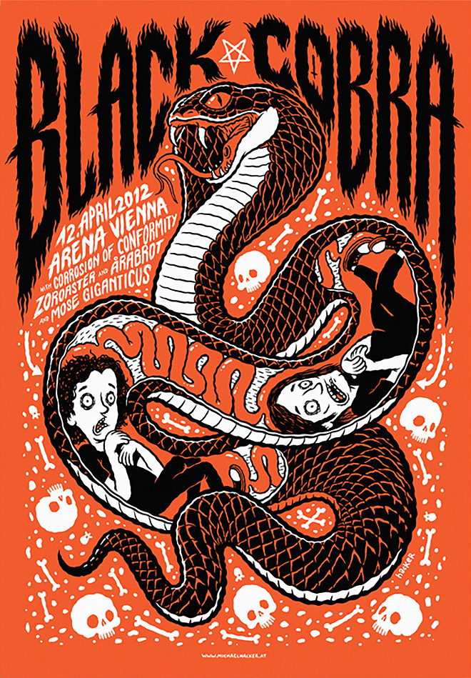 Gigposter Black Cobra by Michael Hacker
