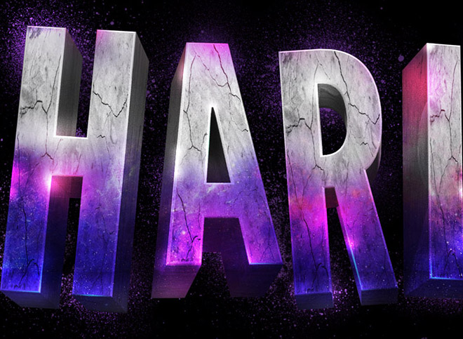 Suicide Squad Inspired 3D Text Effect