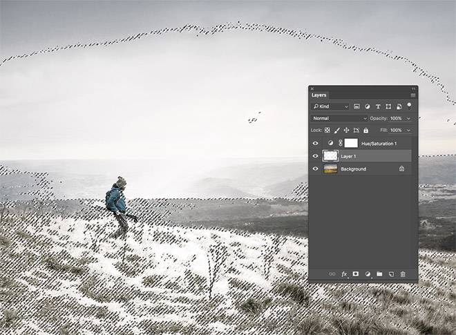 how to make snow in photo shop