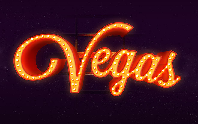 Vegas Text Effect