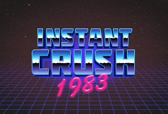 80s Retro Typography Effect