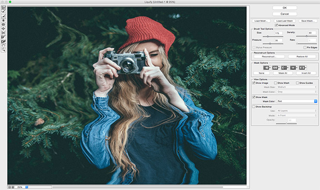 photoshop how to delete image filter