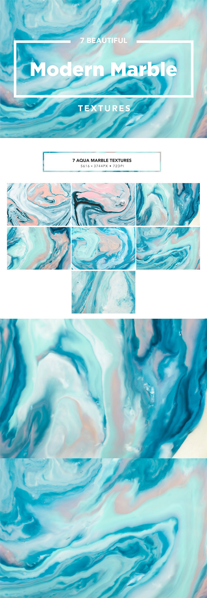 Modern Marble Ink Textures