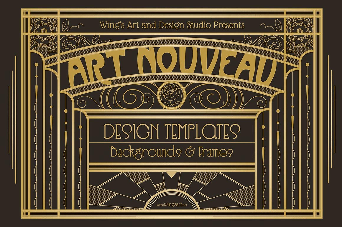 art nouveau design templates for access all areas members
