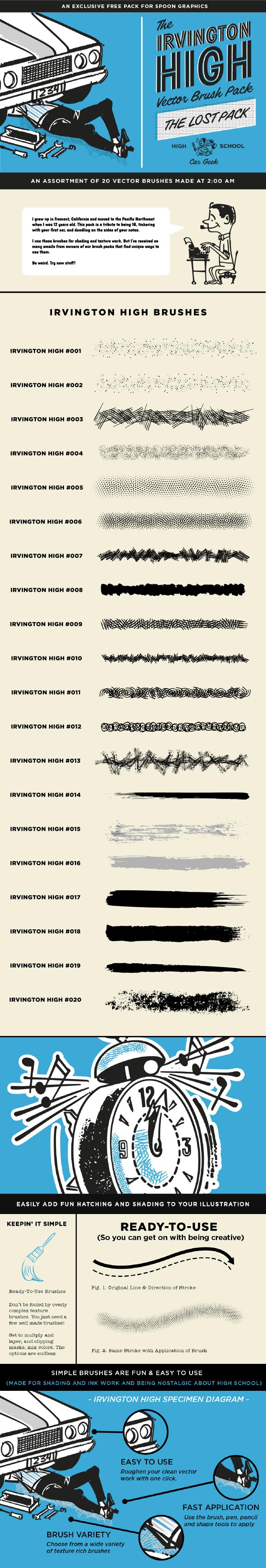 Irvington High Vector Brush Pack
