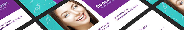 Dental Clinic Print Design Template Pack for Premium Members
