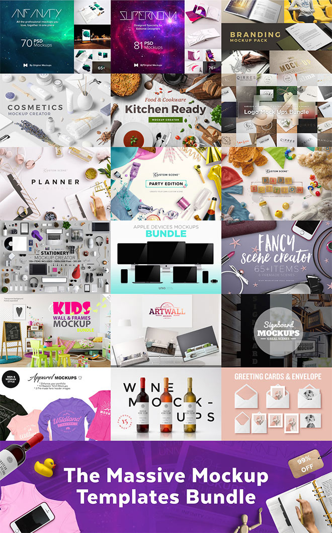 The Massive Mockup Template Bundle