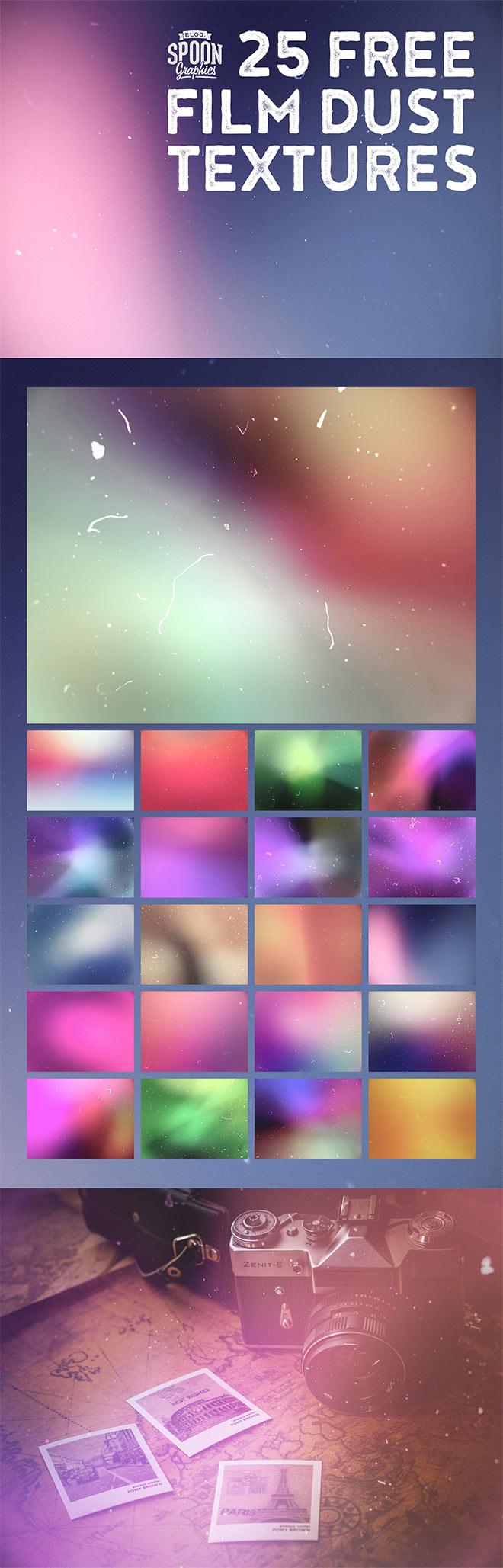 25 Free Film Dust Textures