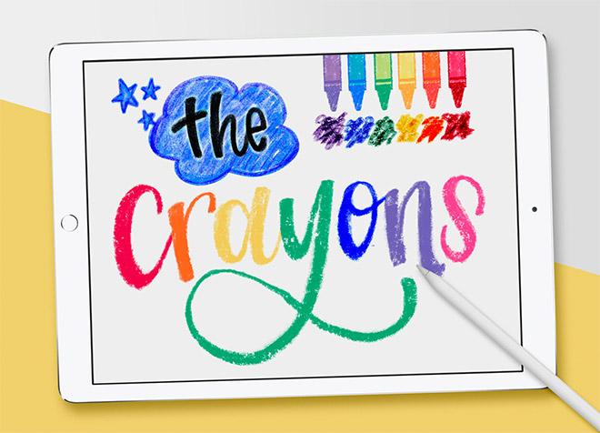 Crayon Procreate Brushes