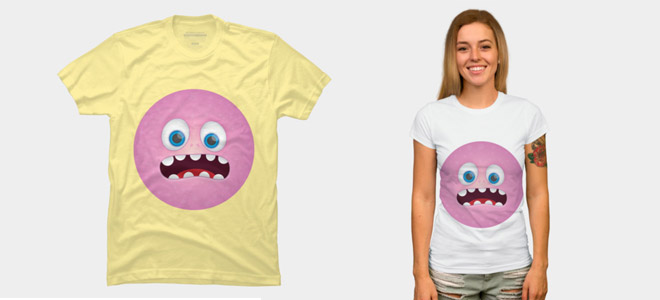Monster face t-shirt