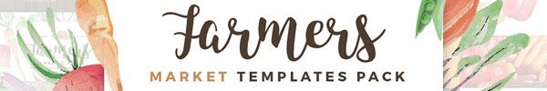 Farmers Market Print Design Template Pack for Premium Members
