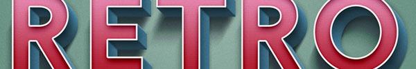 Video Tutorial: Retro Text Effect in Adobe Photoshop