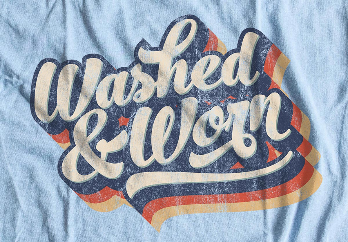 9 Free Washed Worn Aged T Shirt Effect Textures