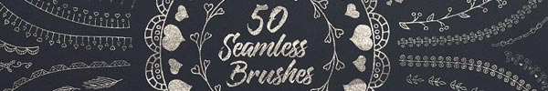 50 Seamless Illustrator Brushes for Premium Members