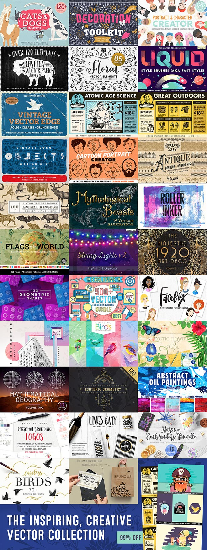 The Inspiring, Creative Vector Collection