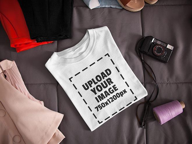 Folded T-Shirt Mockup