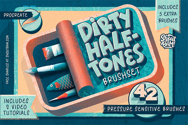 Dirty Halftones BrushSet