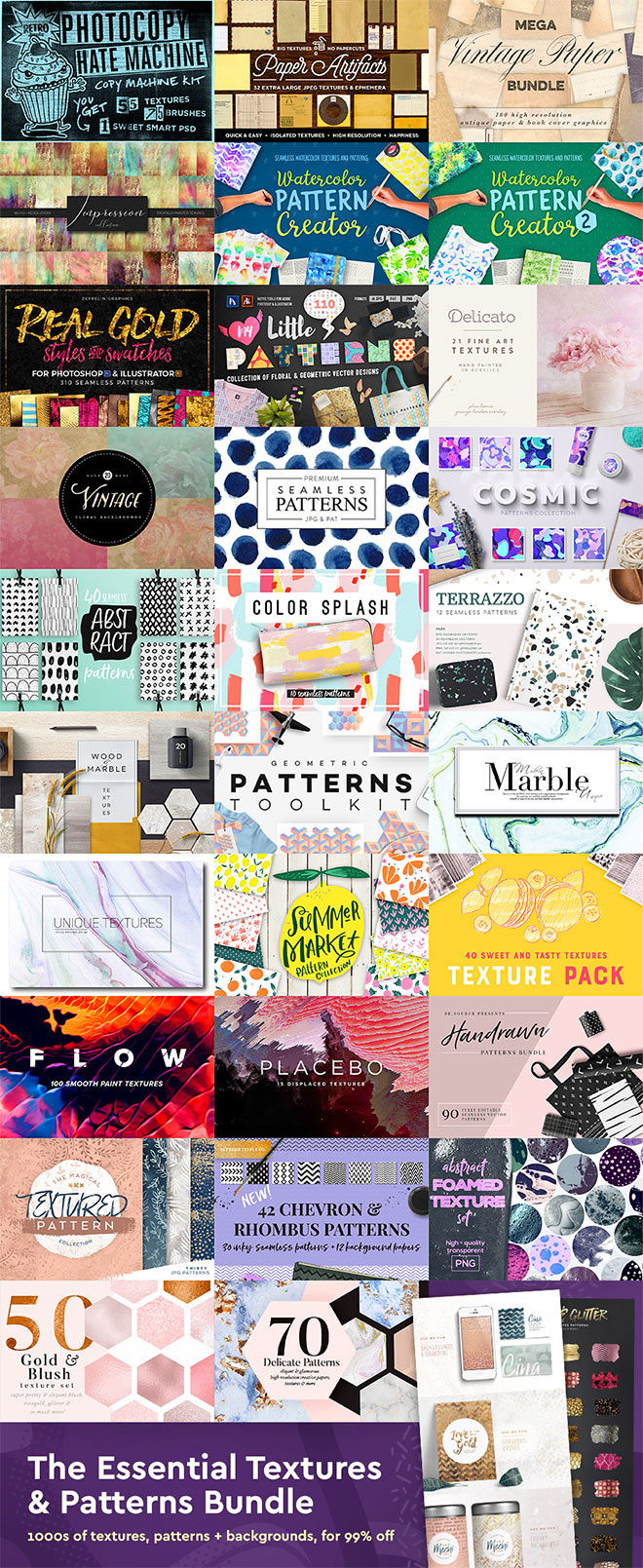 The Essential Textures & Patterns Bundle