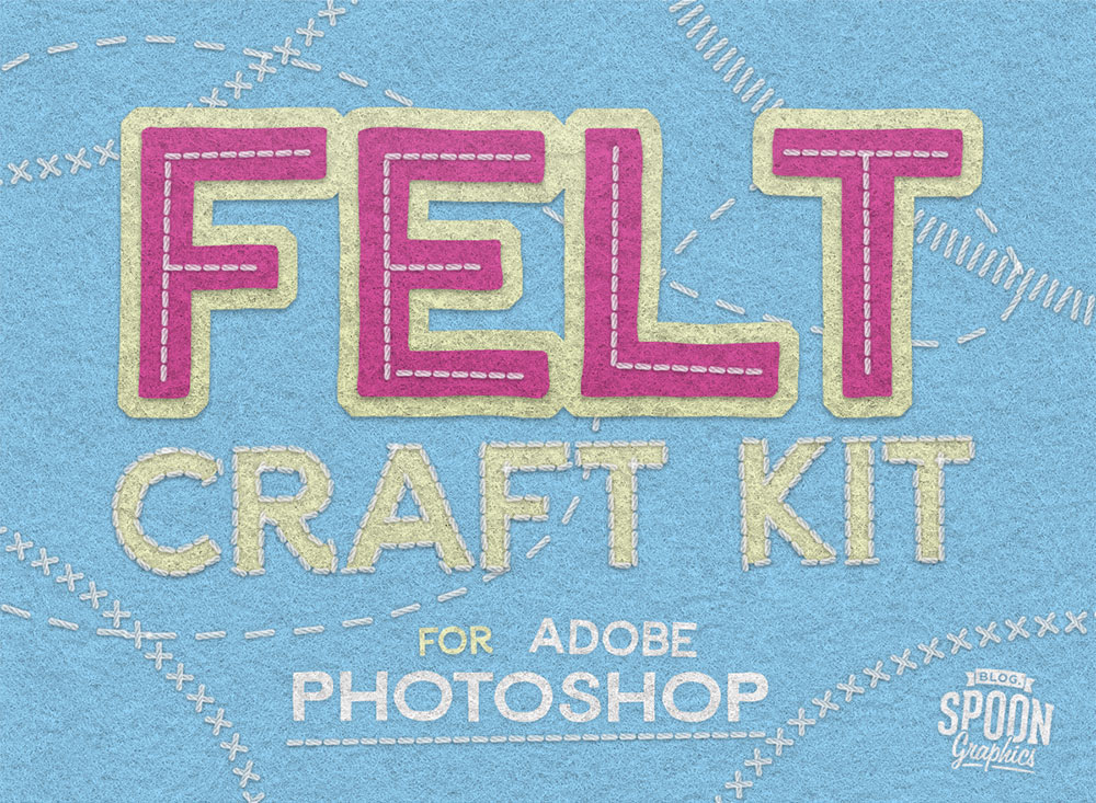 Download My Free Felt Craft Kit For Adobe Photoshop