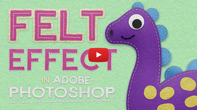 Video Tutorial: Cute Character with Felt Effects in Photoshop