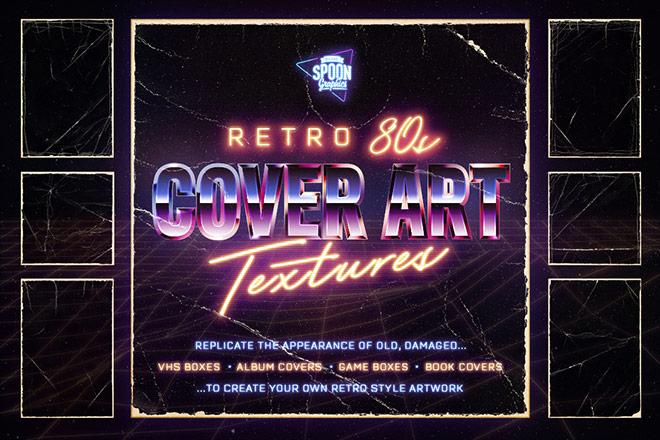 Retro 80s Cover Art Textures
