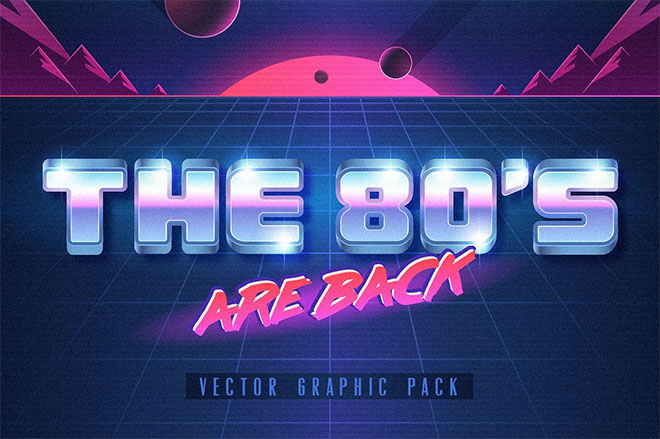 The 80s Vector Graphic Set