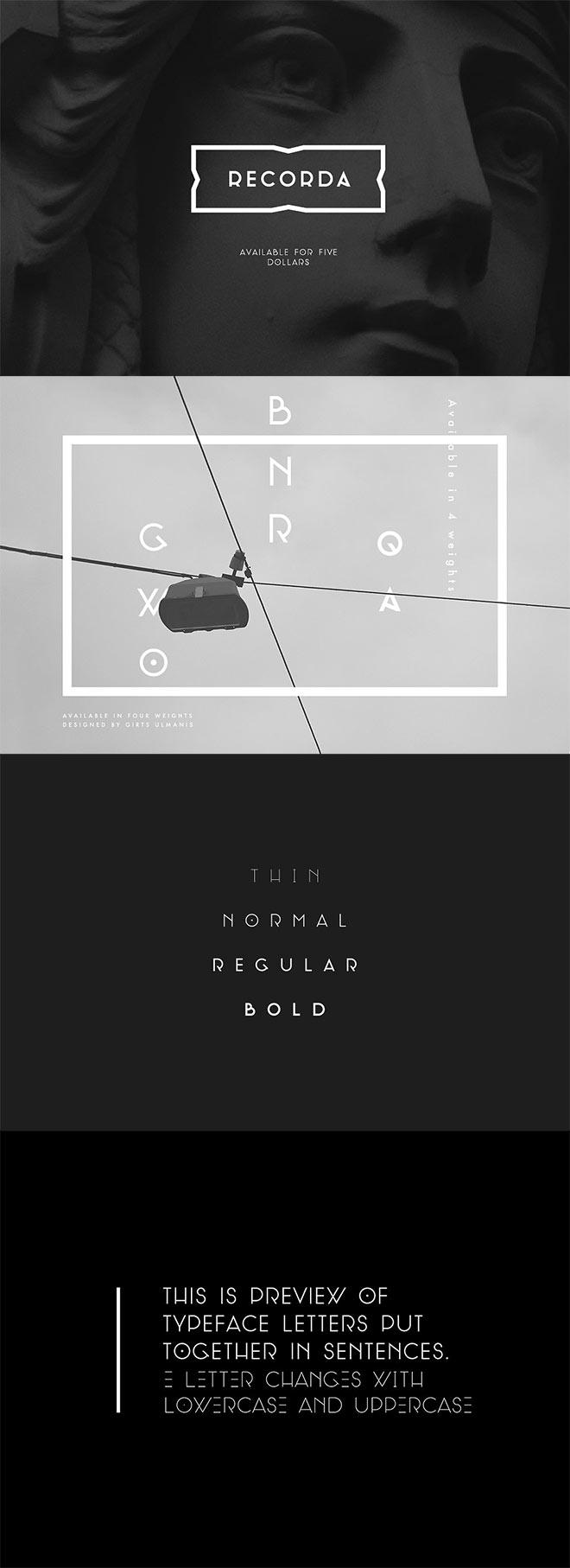RECORDA Typeface