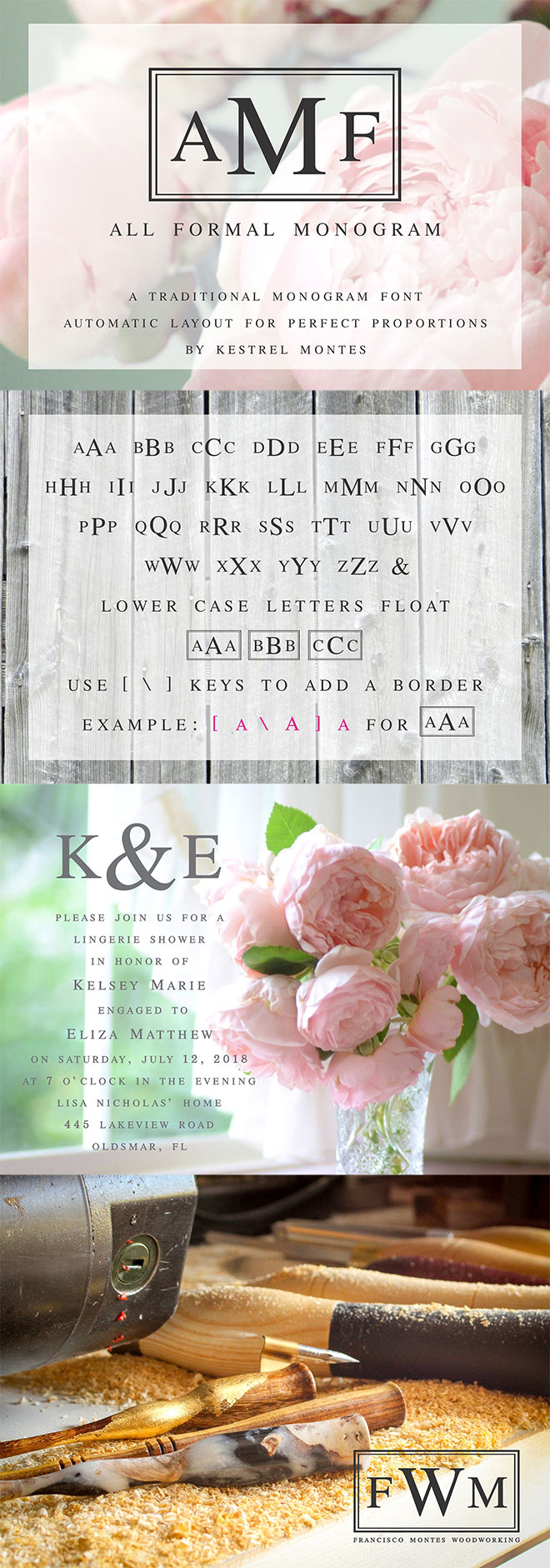 All Formal Monogram Plus Borders