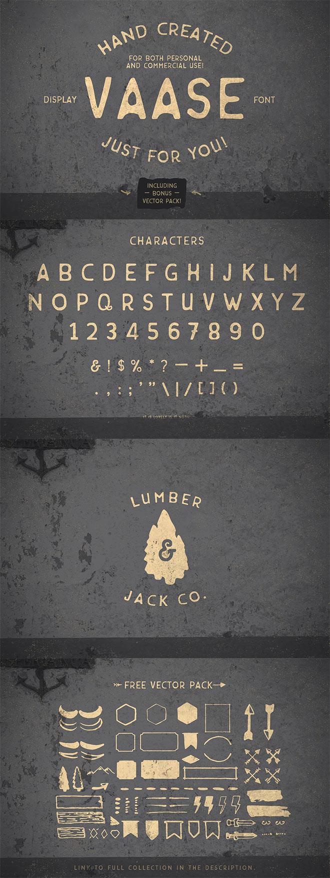 Vaase - Hand Created Font + Bonus!