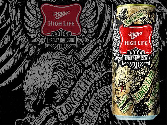 Miller High Life & Harley Davidson by Derrick Castle