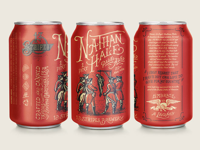 13 Stripes Brewing - Nathan Hale Pale Ale by Forefathers