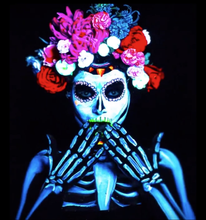 Cubanisto Blacklight Skull by Loan Verboonen