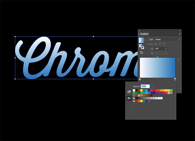 how to create outlines on a gradient in illustrator