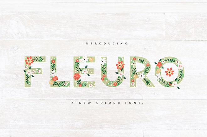 FLEURO Colour Font