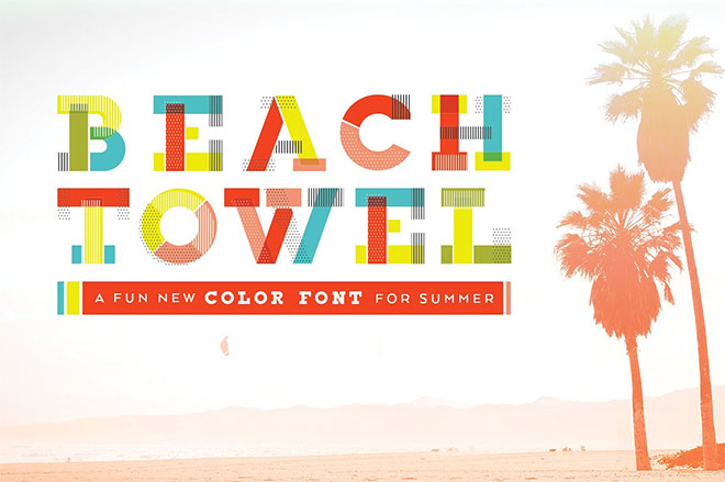 Beach Towel Color Font