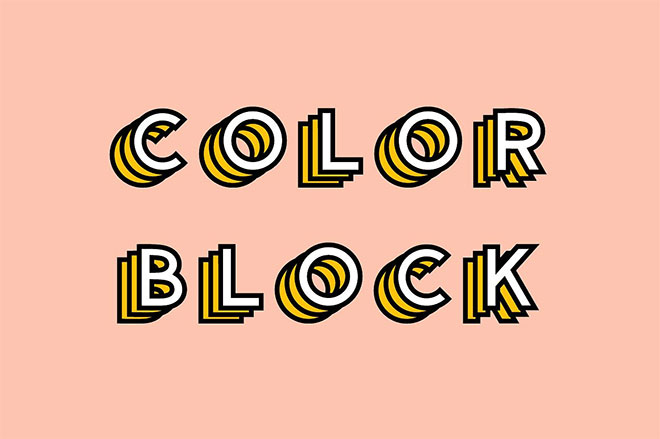 Color Block - Colored Font