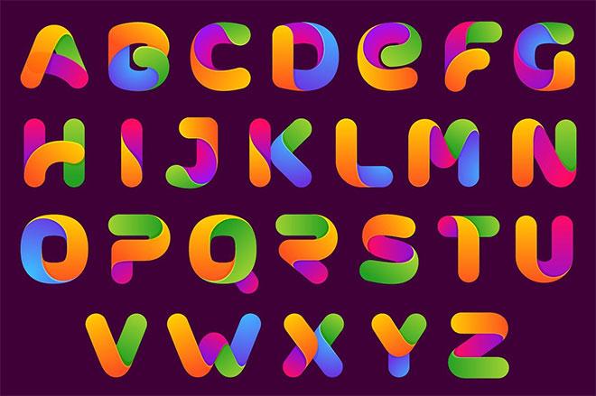 OneLine Bold color font